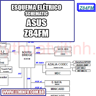 Esquema Elétrico Notebook Laptop Asus Z84FM Manual de Serviço  Service Manual schematic Diagram Notebook Laptop Asus Z84FM    Esquematico Notebook Laptop Asus Z84FM