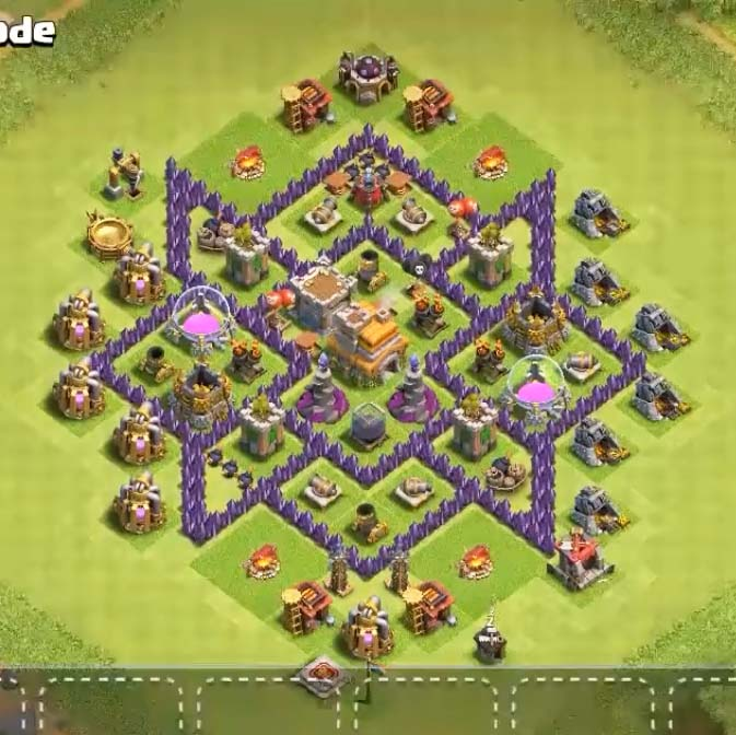 coc town hall 7 farming layout