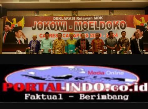 Di Sultra Relawan Deklarasi Untuk Pasangan Jokowi-Moeldoko
