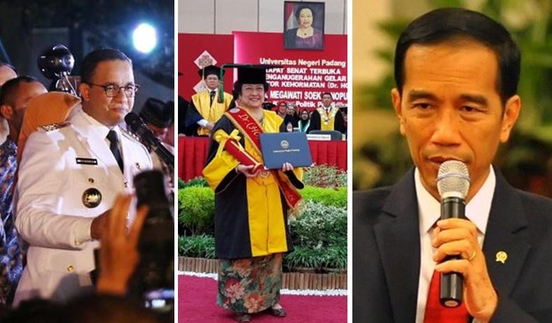 Anies Baswedan - Megawati - Jokowi pakai kata pribumi