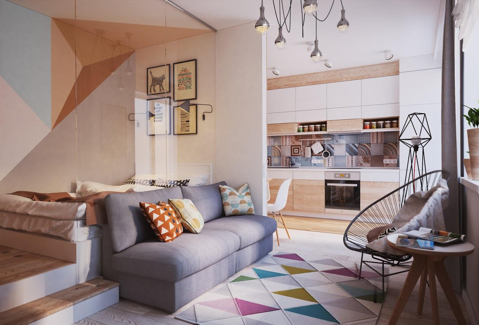 studio apartment living room design ideas