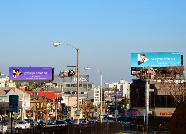 Google Play music billboards Sunset Strip
