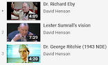 Richard Eby (1972 NDE)  Lester Sumrall (1930's Vision) George Ritchie (1943 NDE)