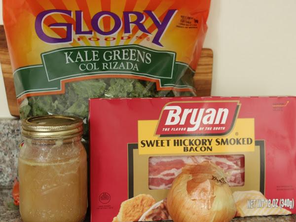 Easy and so cosmopolitan!  (Smoky bacon kale)