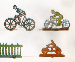 6 - Bicycles; Flat Figures; Game Playing Pieces; Lead Flats; Motorbike; Motorcycle; Motorcycle Toys; Motorcycles; Playing Piece; Small Scale World; smallscaleworld.blogspot.com; Toy Motorbikes; Toy Motorcycles; Two Wheels; Whitemetal Figurines;