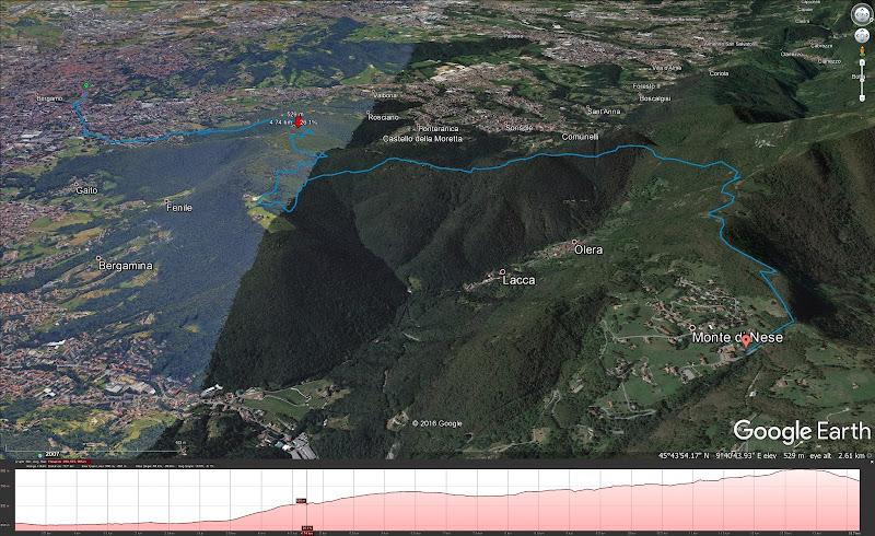 Bergamo to Monte di Nese