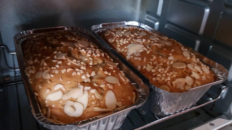 Resepi Kek Pisang Almond Simple