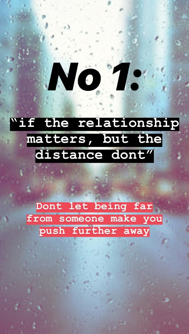 guidelines for long distance relationships