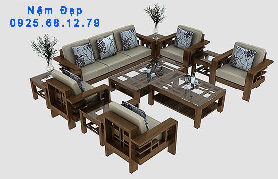 bọc nệm ghế sofa gỗ 08