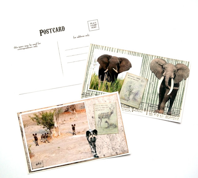 Vacation Photo Postcard Set by Dana Tatar for FabScraps