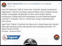 Div Humas Polri Hilangkan Kata PKI & Hanya Tulis G30S, Ini Komentar Netizen