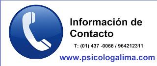 Psicólogos en Lima horarios y precio san borja