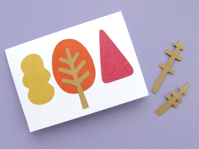 autumn trees card tutorial adding the treetrunks