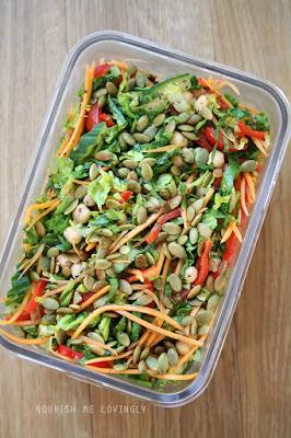 Chickpea picnic salad
