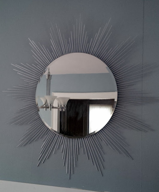 Homespun Luxe Ikea Hack Diy Sunburst Kolja Mirror For