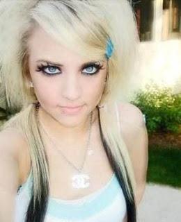Emo Blonde Hairstyles 4