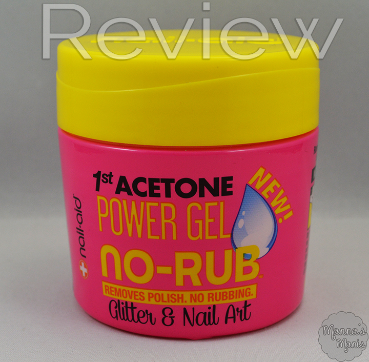 review of  Nail Aid Power Gel No Rub acetone Remover