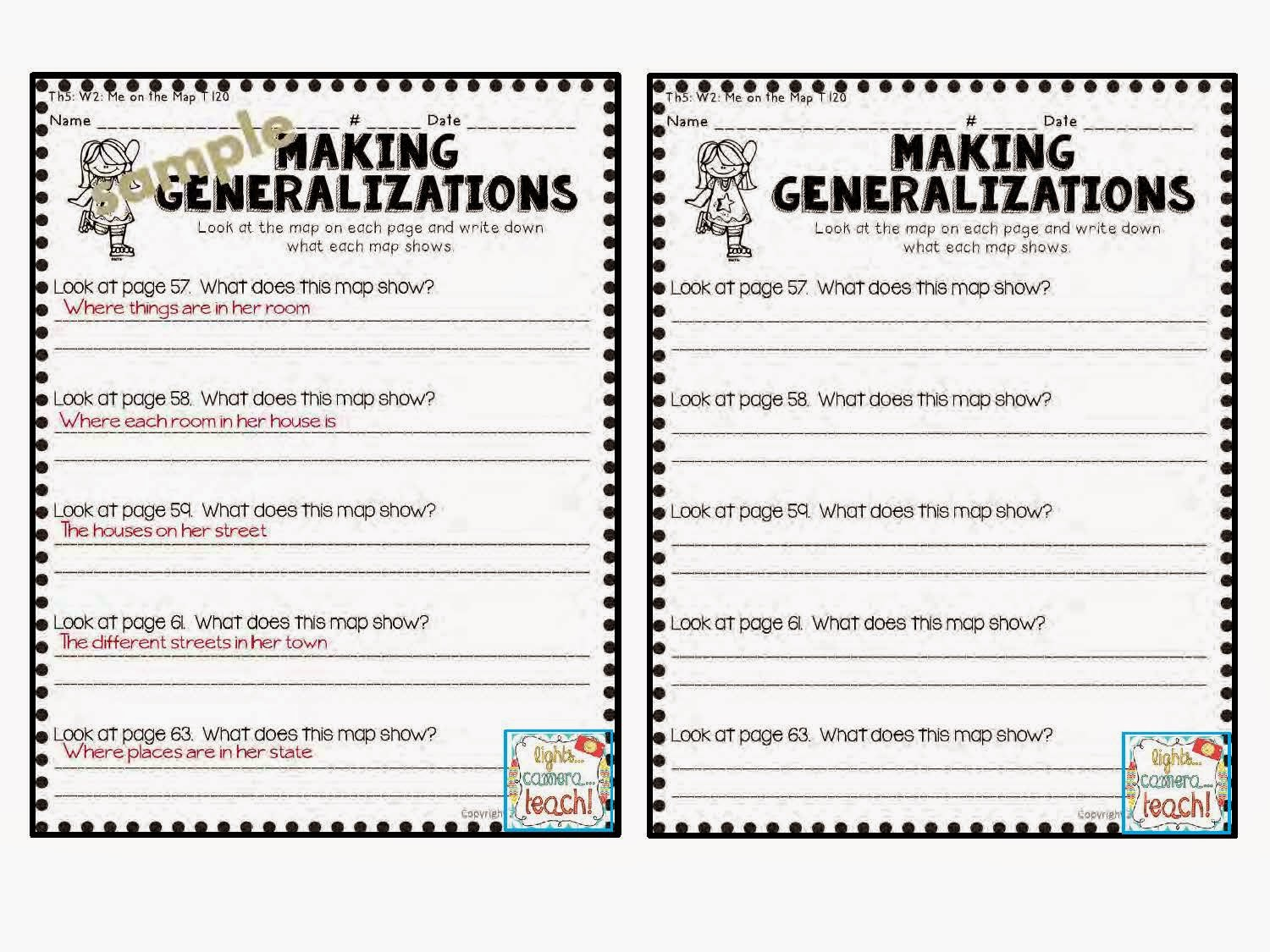 Worksheets Generalization Worksheets making generalizations worksheets free library joindesignseattle