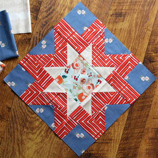 Morning Star Block Free Pattern designed by Maureen of Maureen Cracknell Handmade