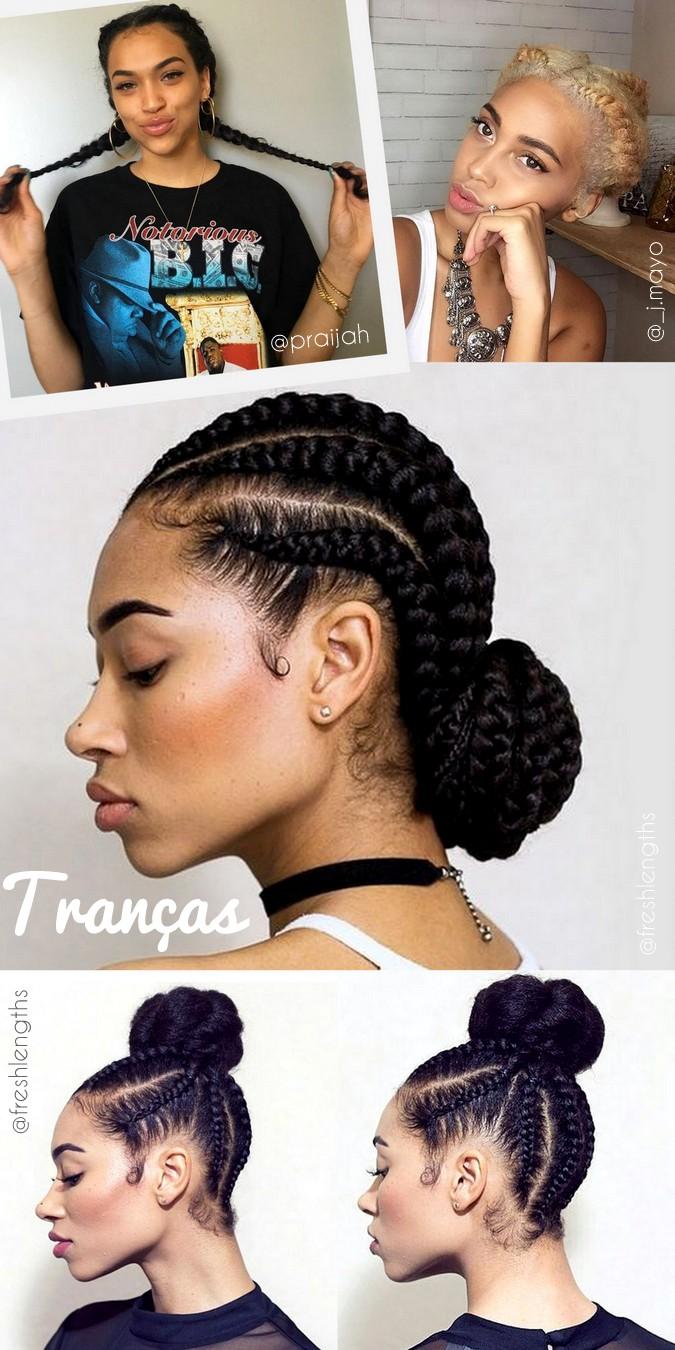 Penteados para cabelos cacheados dia a dia, escola, faculdade, com coques e tranças - curly hairstyles day by day braid end knot top - ohlollas