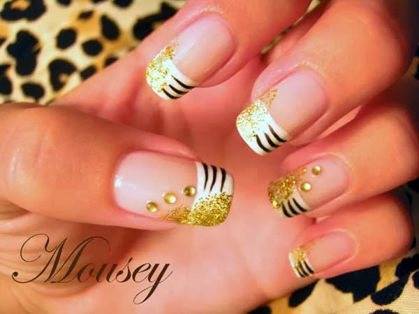 Nail Art Designs Red And Gold Hession Hairdressing
