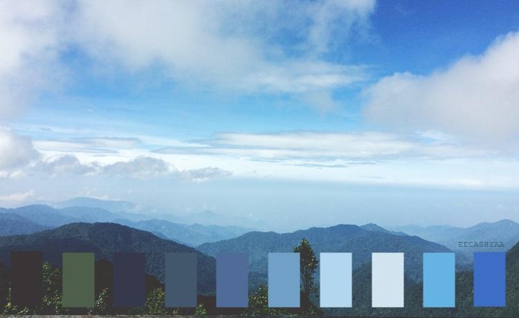 color palette, gunung brinchang