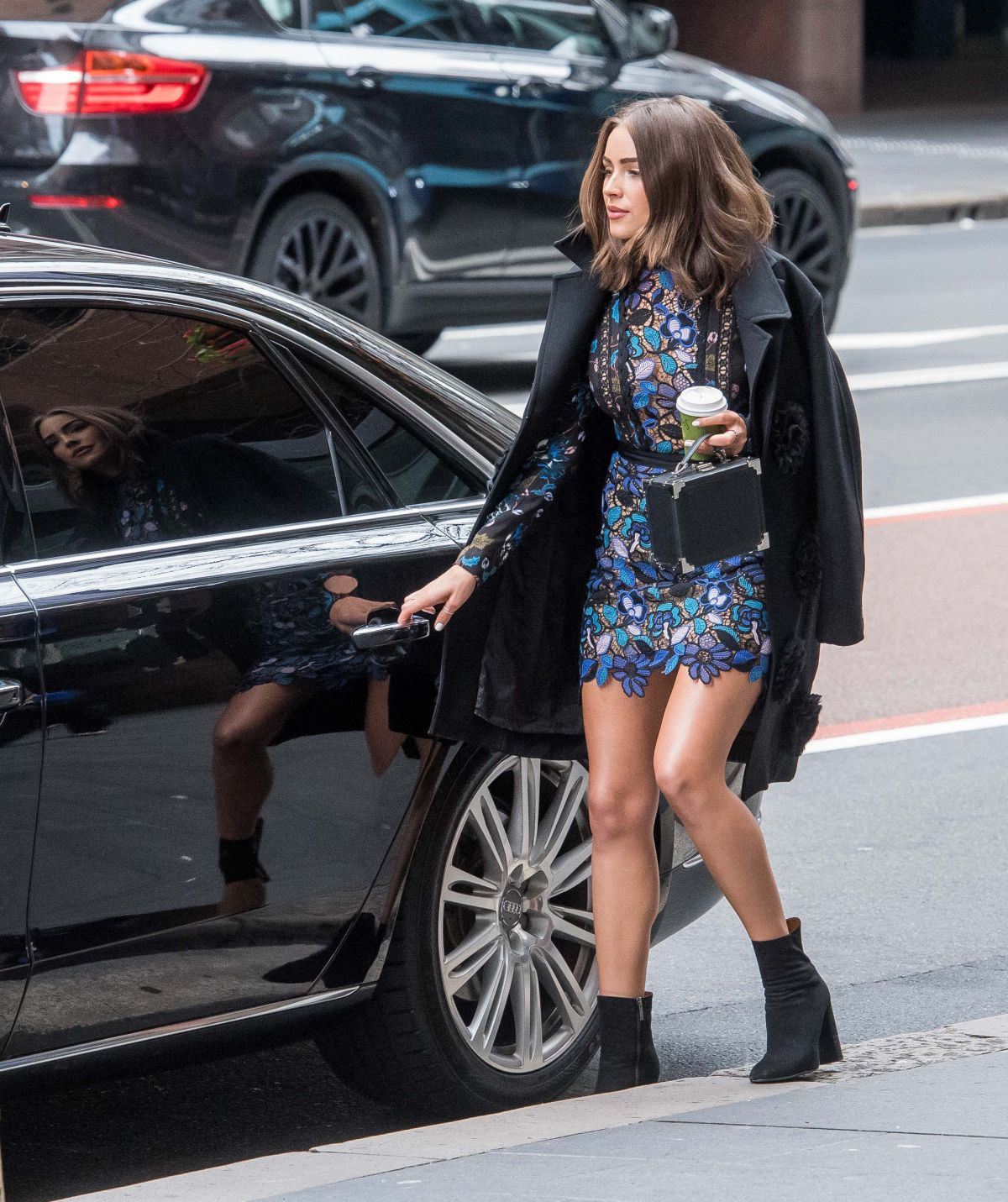 Olivia Culpo ride in her car Out And About In Sydney