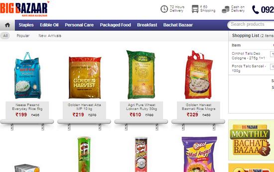 Bigbazaar Opens Online Store Tech Shortly