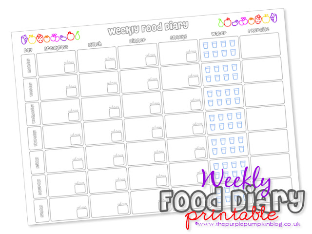 Slimming World Food Diary  Free Printable  The Purple Pumpkin Blog