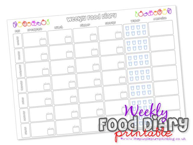 Slimming World Food Diary - Free Printable » The Purple Pumpkin Blog