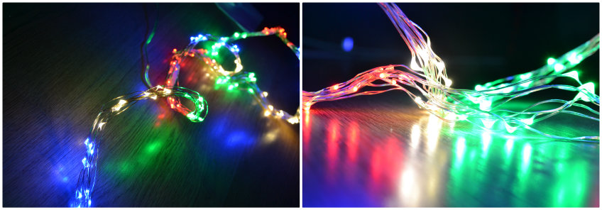 ups and downs, smiles and frowns, Christmas lights