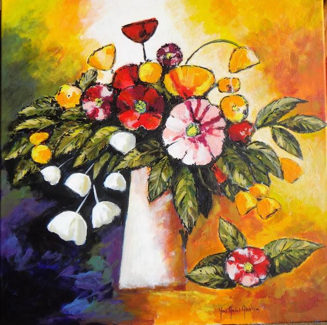 jour apr s jour mon blog peindre un bouquet de fleurs. Black Bedroom Furniture Sets. Home Design Ideas