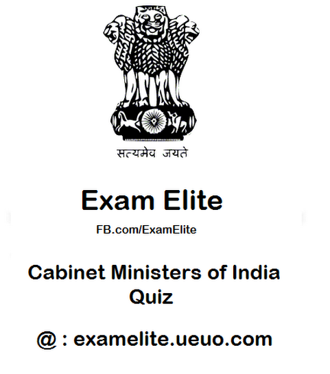 Quiz - Cabinet Ministers of India