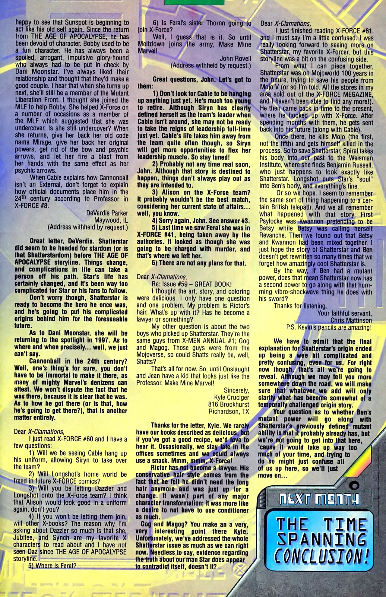 Read online X-Force (1991) comic -  Issue #63 - 35