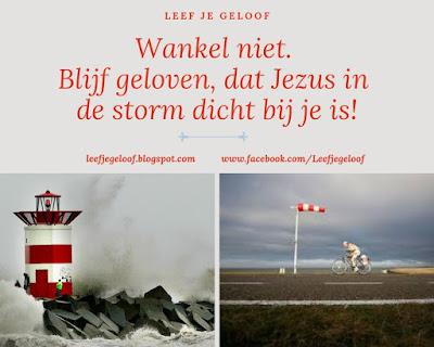 Leef je geloof, Hillie Snoeijer, Met Jezus in de storm