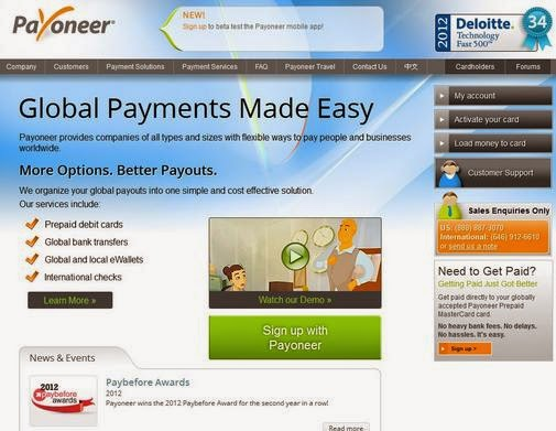 Earn Money With Affiliated Program of Payoneer