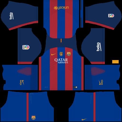 1e1c7128b9368 Uniformes Dream League Soccer  FC BARCELONA