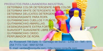 Productos de limpieza para Lavanderia
