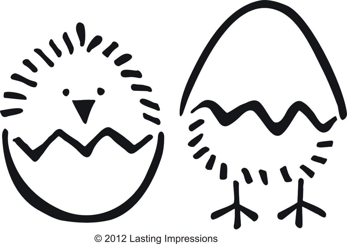 Early Play Templates Easter Chick Images