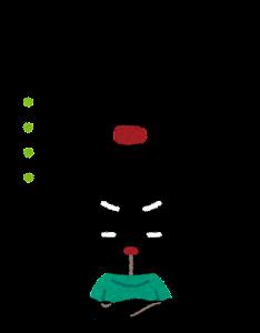 ぴょこの表情のイラスト「悩んだ顔」