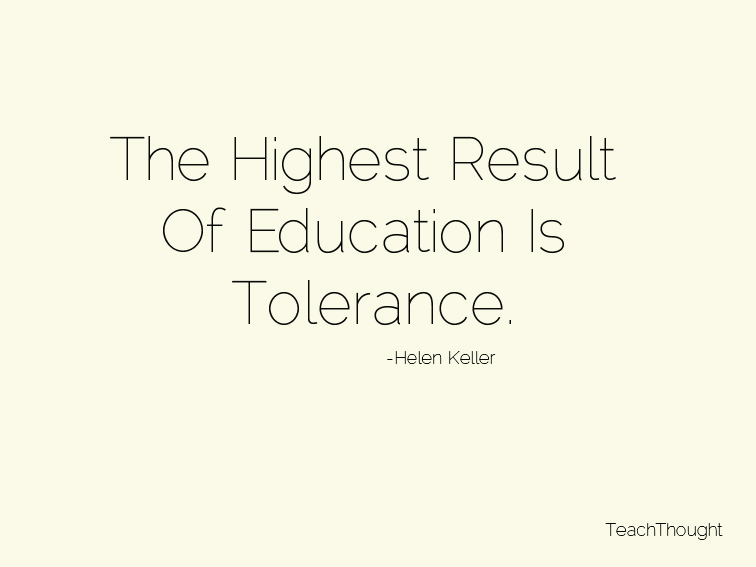 tolerance and education Ticular, longstanding debates about zero tolerance policies leave many people confused about the basic facts students with special education needs are also suspended or expelled at higher rates annually, high school students with disabilities of among middle.