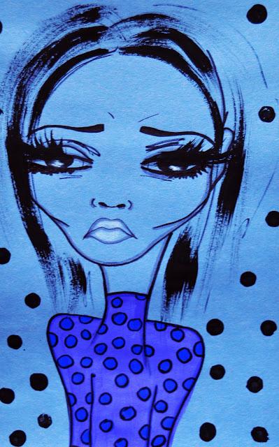 Bebee Pino girl in blue