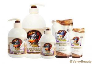 Rahasia kulit putih halus dan sehat dengan Velvy Goat's Milk Shower Cream Silk & Grape Seed Oil