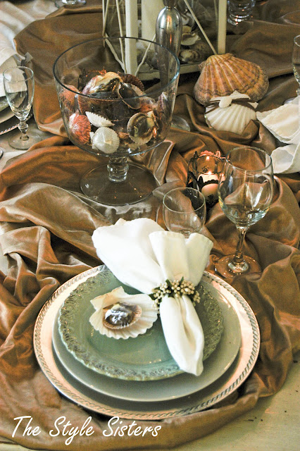 Beach tablescape summer party idea