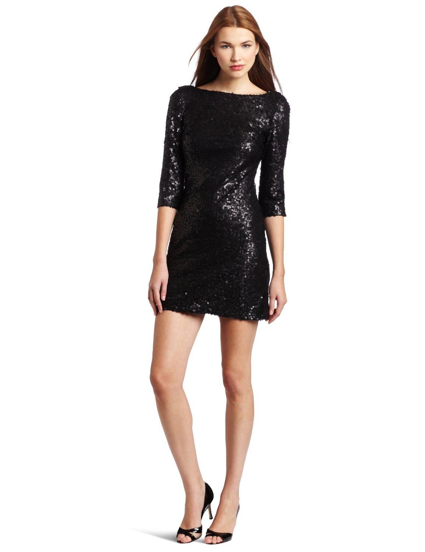 b1493da86536 Jessica Simpson Women's Long Sleeve Sequin Mini Dress | Prom Sequin ...
