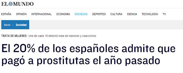 prostitutas en es castell el % de los españoles admite que pagó a prostitutas el año pasado