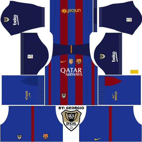 UPDATED)DLS 16 Barcelona kits 2016/2017 Home/Away/Alternate (LINKS ...