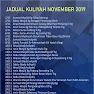 Jadual Kuliah Ustaz Azhar Idrus  (UAI) November 2019