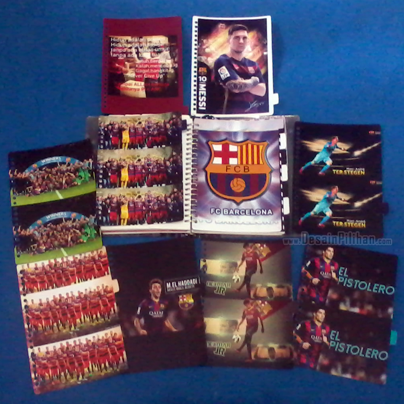 DIVIDER BINDER CUSTOM, PEMBATAS BINDER FOOTBALL CLUB, PEMBATAS BINDER BARCELONA