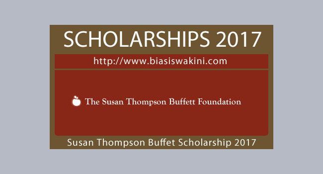 The Susan Thompson Buffett Foundation Scholarship 2017